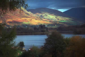 A view of Loch Awe, Scotland.